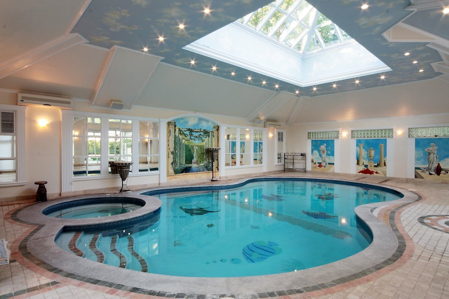 50 beautiful indoor swimming pool design ideas for your homeHome Inside Pool #17