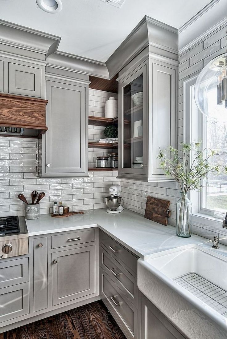 18 Stunning Ideas Of Grey Kitchen Cabinets