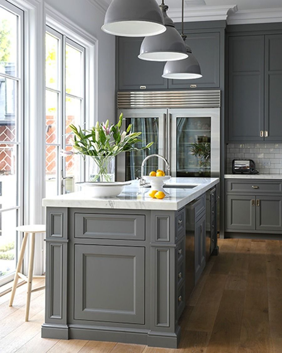 Kitchen Island Accent Color: 18+ Stunning Ideas Of Grey Kitchen Cabinets