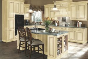 How to Antique Your White Kitchen Cabinets