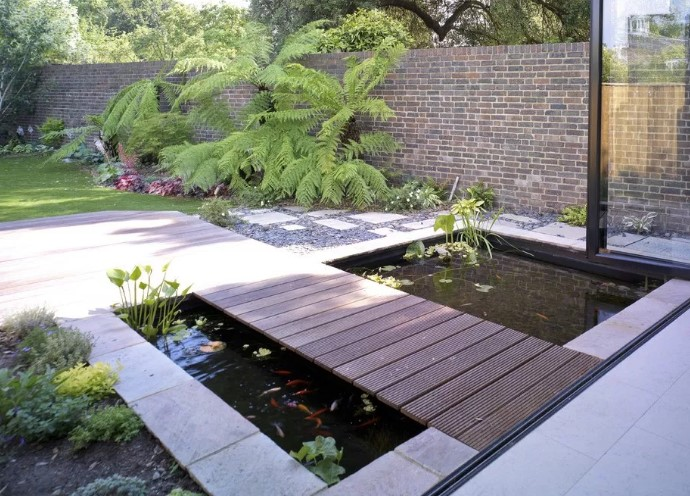 Minimalist Fish Pond Design