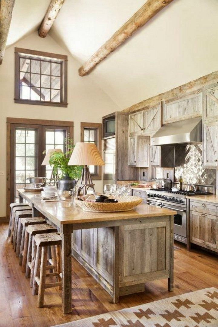 15+ Stunning Rustic Kitchen Design on Rustic Farmhouse Kitchen  id=86996