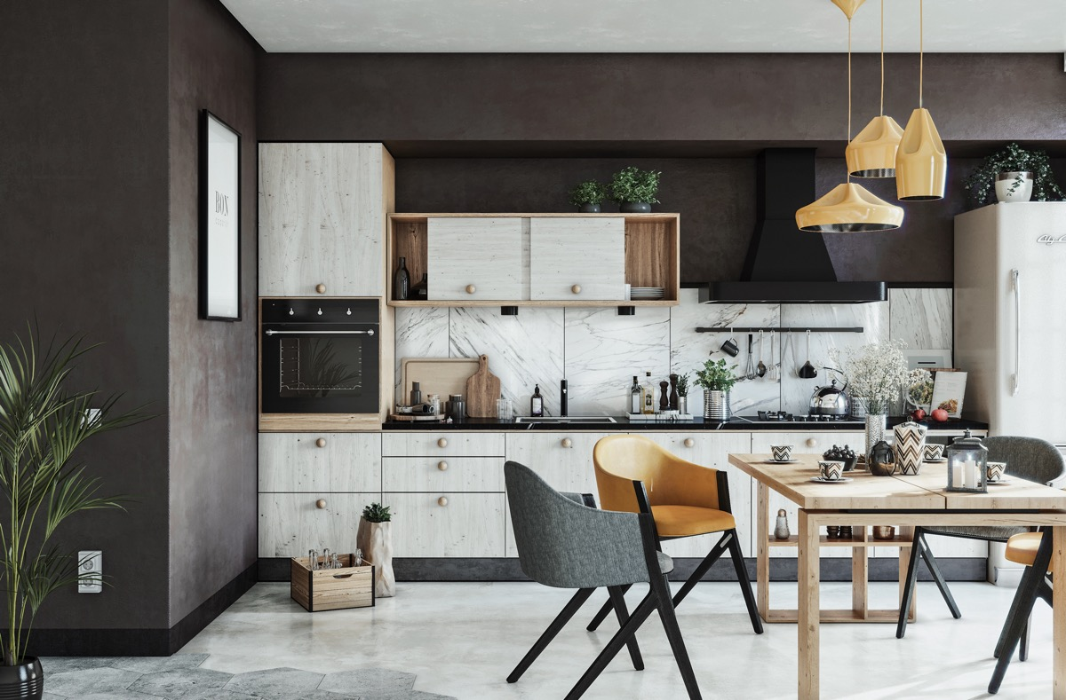 15 ideas for one wall kitchen images
