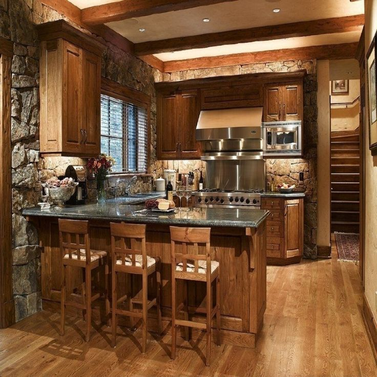 15+ Stunning Rustic Kitchen Design on Traditional Rustic Decor  id=59435