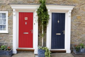 Front Door Colors - Looking to paint your front door a different color? Here are our favorite front door colors for a warm welcome.